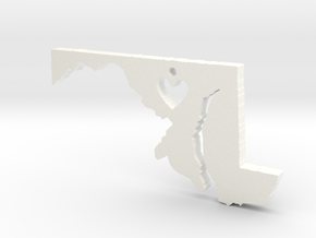 I love Maryland Pendant in White Processed Versatile Plastic
