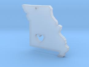 I love Missouri Necklace Pendant in Smooth Fine Detail Plastic