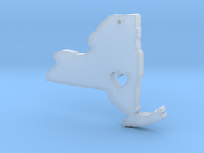 I love New York Pendant in Smooth Fine Detail Plastic