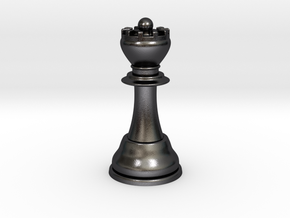 Queenib3d in Polished and Bronzed Black Steel
