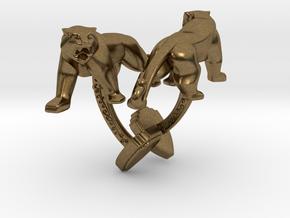 TwinTigers -Cuffs- in Natural Bronze