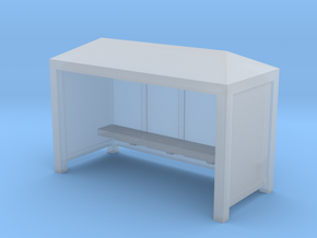 Bus Stop Shelter - Zscale in Frosted Ultra Detail