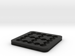 Dancing Dice & Dominoes Puzzle - Part 2/3 (Frame) in Black Natural Versatile Plastic