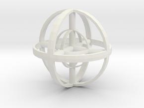Zenball in White Natural Versatile Plastic