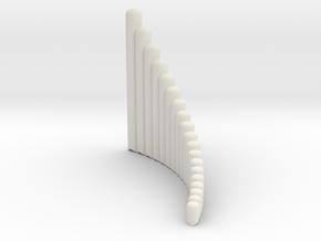 """Right handed 19-tube """"Alto"""" Panpipe in White Natural Versatile Plastic"""