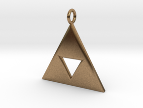 Triforce in Natural Brass
