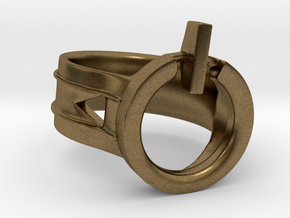 Power Ring Size 6 in Natural Bronze
