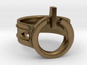 Power Ring Size 8 in Natural Bronze