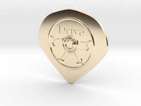 Hard pick(drive) in 14K Yellow Gold