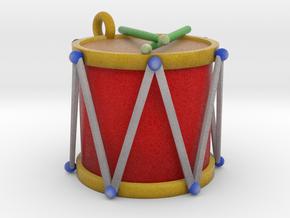 Ornament, Drum in Full Color Sandstone