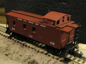 A29 N 'Bombay' roof caboose cupola for AthearnMDC in Frosted Ultra Detail