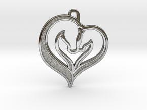 1 Horse Pendant in Premium Silver