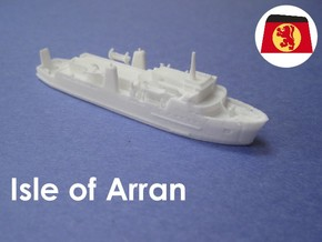 MV Isle of Arran (1:1200) in White Natural Versatile Plastic