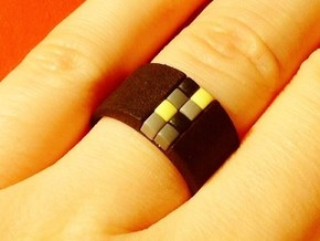 high 8-bit ring (US9/⌀18.9mm) in Black Natural Versatile Plastic