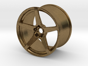 Scaled 1:12 5 Spoke Performance Wheel in Natural Bronze