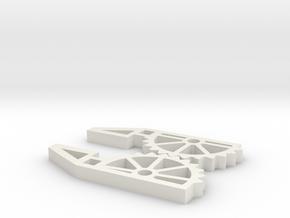 Skelatonized Robot Hand in White Natural Versatile Plastic