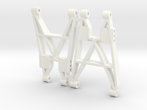 NIX91-Rear Replica Arms SLS in White Processed Versatile Plastic