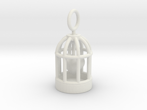 Heart Cage in White Natural Versatile Plastic