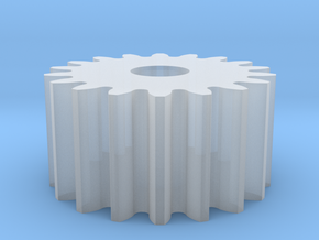 Spur Gear M1 Z18 in Smooth Fine Detail Plastic