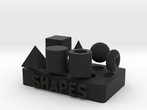 Collection of Primitive Shapes in Black Natural Versatile Plastic