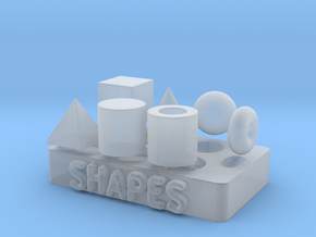 Collection of Primitive Shapes in Smooth Fine Detail Plastic