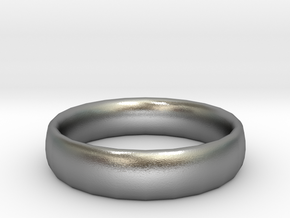 plain Ring Size 22x22 in Natural Silver