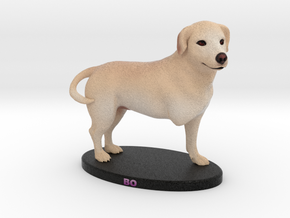 Custom Dog Figurine - Bo in Full Color Sandstone