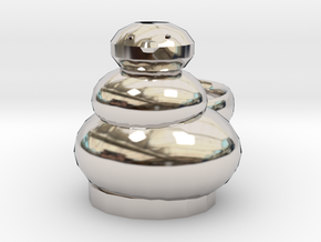 Open Sim Snowman  Ring in Platinum