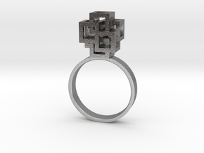 Quadro Ring - US 5 in Natural Silver