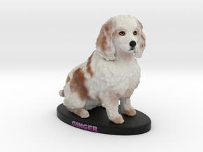 Custom Dog Figurine - Ginger in Full Color Sandstone
