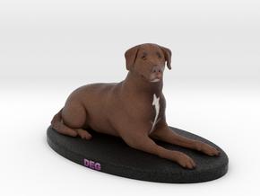 Custom Dog Figurine - Deg in Full Color Sandstone