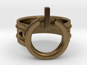 Power Ring Size 12 in Natural Bronze