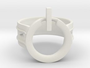 Power Ring Size 12 in White Natural Versatile Plastic
