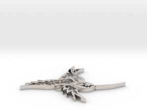 Tribal Hummingbird pendant in Platinum