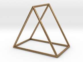 Triangle Bracelet -  Small in Natural Brass
