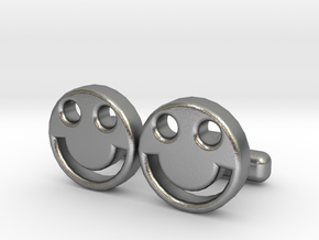 "Happy Face Cufflinks, Part of ""Fun Loving"" Collect in Natural Silver"
