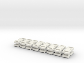 1/6 scale, 6mm Buckle X16 in White Natural Versatile Plastic