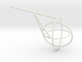 Borromean Rings seifert surface in White Natural Versatile Plastic