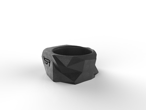 Origami Ring in Black Natural Versatile Plastic