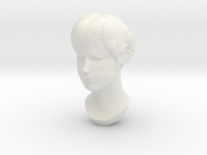 Female Head 2 in White Natural Versatile Plastic