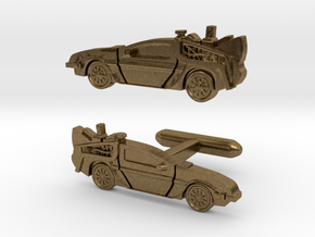 Back to the Future's Delorean: cufflinks in Natural Bronze