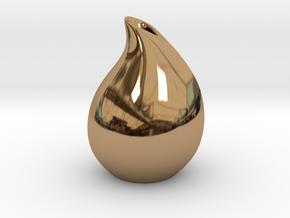 Droplet vase in Polished Brass