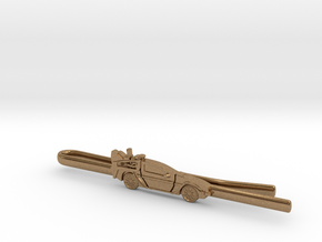 Back to the future's Delorean Tie Clip in Natural Brass