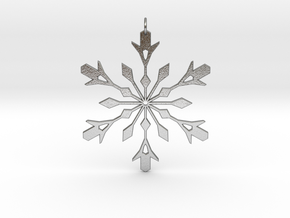 Snowflake Holiday Decor - Tree Ornament in Natural Silver