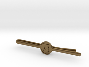 Green Lantern Tie Clip in Natural Bronze