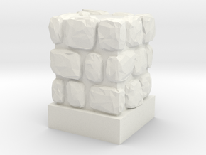 Dungeon 1x1 Wall Block in White Natural Versatile Plastic