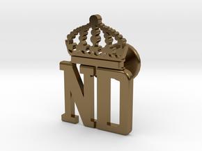 ND manchettknapp in Polished Bronze