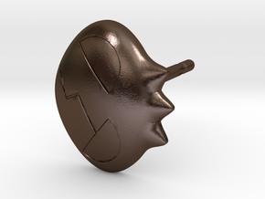 Yoko Skull Clip Stud Earring Remix (.333in) in Polished Bronze Steel