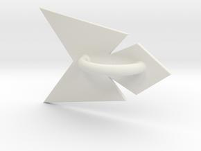 Phoenix Belt Sash in White Natural Versatile Plastic