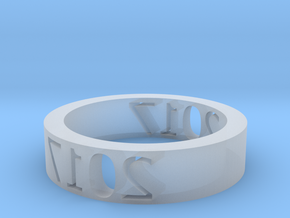 Ring 2017 in Smooth Fine Detail Plastic